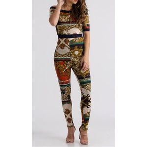 Baroque stretchy jumpsuit